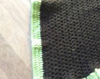 Brown/green baby blanket