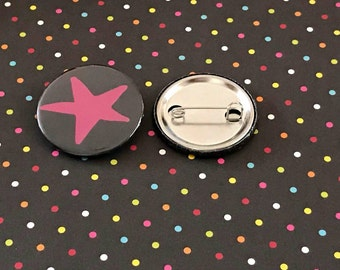 Star Pin button / Pin Buttons / Funky Pin Button