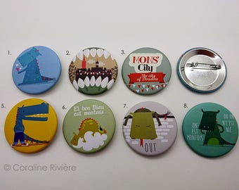 Badges Mons folklore