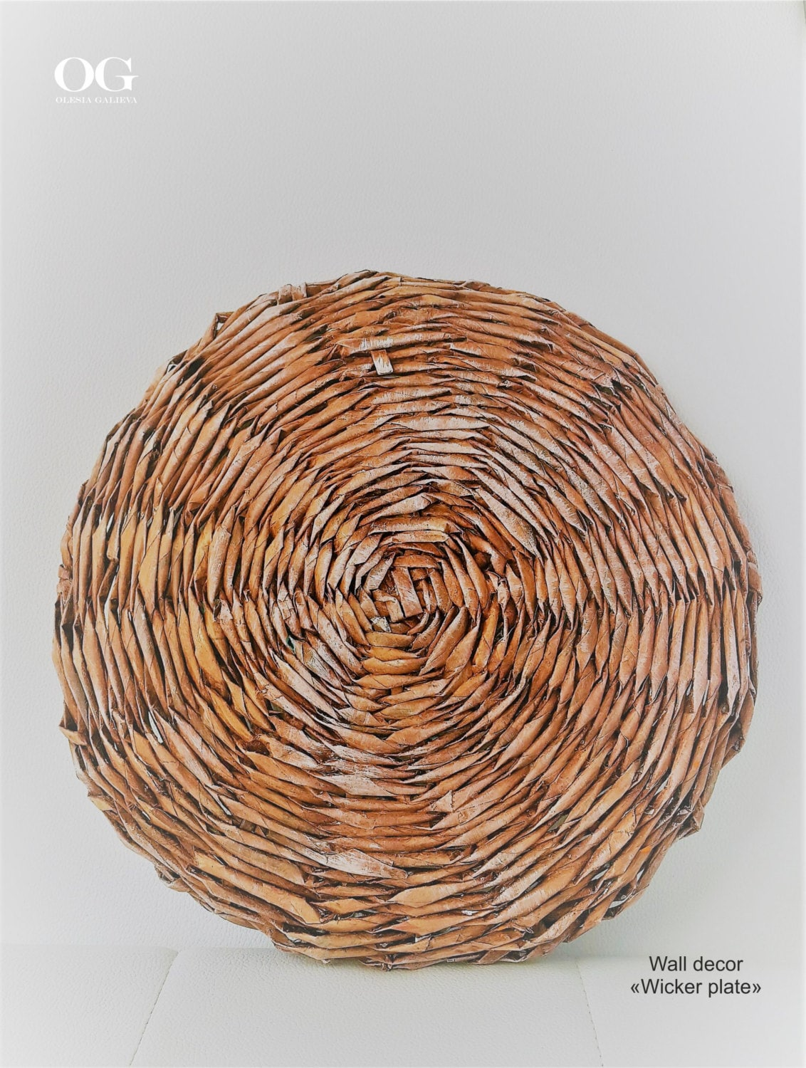 Rattan Wall Decor Round : Wall basket round decor wicker plate gifts