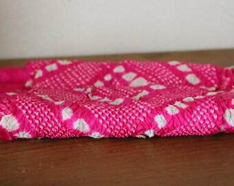 Vintage Japanese Silk Obiage /// Obiage, Silk scarf, Kimono scarf, Pink silk scarf, Pink Silk Obiage, Silk Kimono, Vintage Pink Silk sash