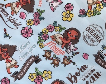 BEST SELLING - Disney Moana Fabric Made in Japan