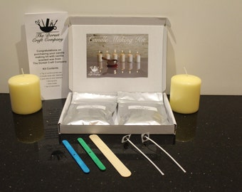 Candle Making Kit with Vanilla Scented Wax