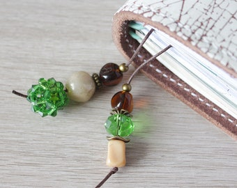 In the Woods (Fern Green) - Bookmark for your Travelers Notebook with Swarovski Elements