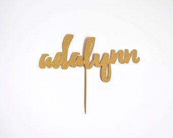 Custom Name Cake Topper | Color and Font options available!