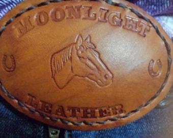 Belt Buckle, Custom Leather Belt Buckle.