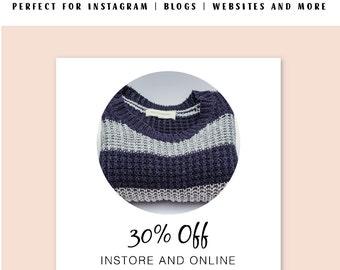 Sale Instagram Template, Sale Social Media Templates, Instagram Branding, Instagram Template, business templates, photoshop template sale
