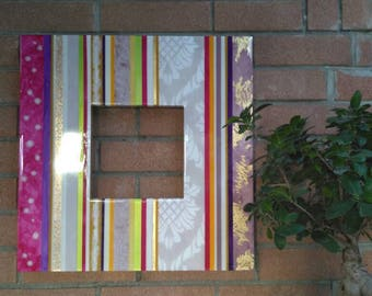 Frame-multicolor hand made mirror-wall mirror-Christmas gift