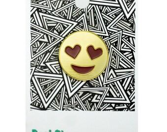 Bae Emoji Pin – Gold Enamel Pin