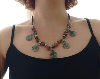 Festival Necklace With Amber Coloured Stones