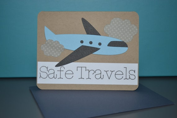 Handmade Safe Travels Card
