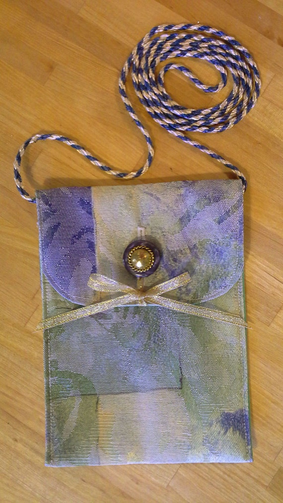 Phone Pouch - Retro Blue and Green