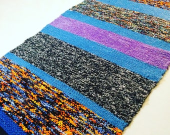 Purple And Blue Rug Etsy
