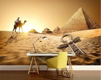 Egypt pyramid wallpaper, pyramid wallpaper, camel wallpaper, desert wallpaper, Egypt wallpaper, pyramid wall paper, camel wallpaper, desert