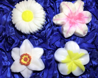 Flower Soap. Narcissus Soap,Chamomile Soap, Plumeria Soap,Lily Soap.  1 Bar of Soap,You Pick.Women Gift,Party Favor