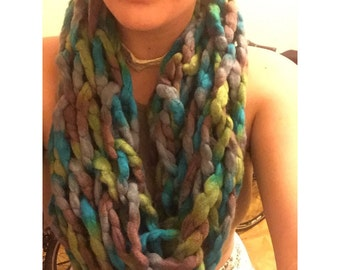 Chunky Arm Knit Circle Scarf