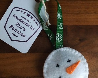 Snowman Felt Christmas Tree Decoration