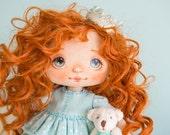 Cloth Art Doll, Dolls, Collectible doll, Doll, Art Doll, Handmade Doll, Interior Doll, Textile Doll, Princess Doll, Girl doll- AliceMoon #13