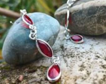 Stunning Garnet Earrings, promotes past life regressions.