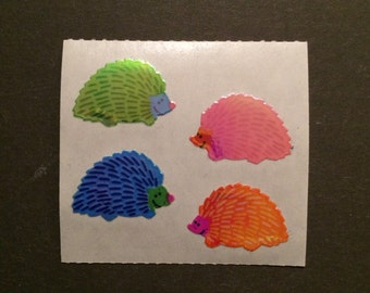 Sandylion vintage 1986 very rare shiny hedgehog stickers