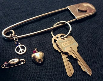 GIANT Safety Pin Keychain