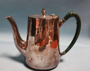 Elkington Plate Teapot, Initialed CPR