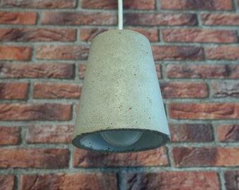 Win from concrete, hanging lamp, ceiling lamp, concrete lamp big M, pendant with cord