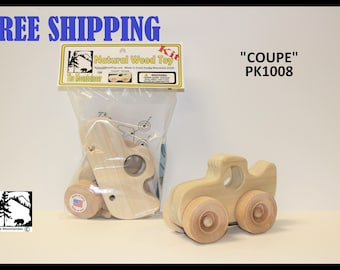 Natural Wood Toy Coupe Kit 1008