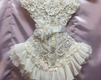 Shabby Chic Victorian style Corset