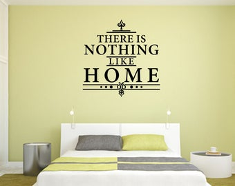 There Is Nothing Like Home Home and Family Vinyl Wall Quote