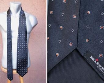 Vintage KITON Napoli Black Silk Tie - KITON Silk Neck Tie