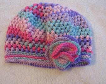 Toddler's Flower Crochet Hat