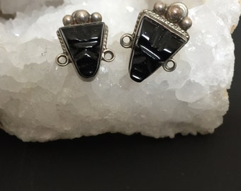 Vintage Taxco Masks Screw on Earrings