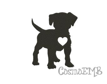 8 Size Puppy dog Silhouette Embroidery design Machine Embroidery - Digital INSTANT DOWNLOAD