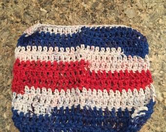Handmade crocheted dishcloth