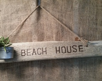 Driftwood Beach House Sign