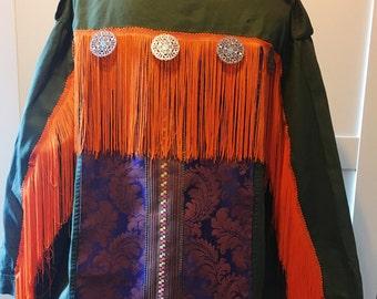 Boho military jacket