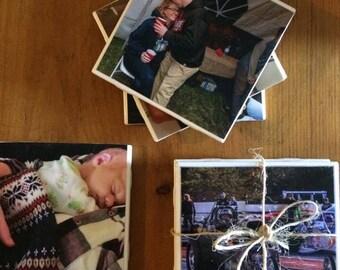 custom coasters/homemade coasters/coasters/drink coasters/photo coasters/set of 4/custom picture coasters//keepsake/sentimental/coaster set