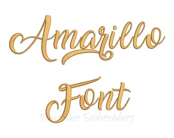 Amarillo Embroidery Font 5 Size Embroidery Designs Fonts INSTANT DOWNLOAD