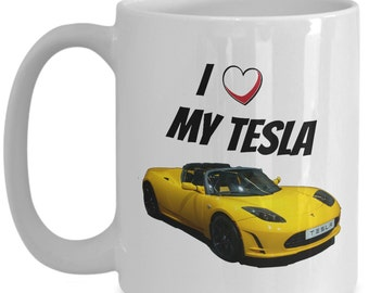Tesla Electric Car, Tesla Mug Is A Great Husband Gift Or Boyfriend Gift Or Tesla Gift For Him! Model S Or Not, It's Perfect For His Man Cave