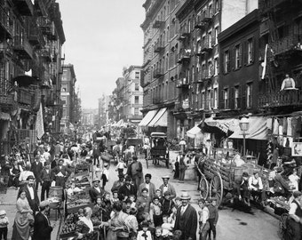 New York City, Mulberry Street, Photography, New York, 1900s, Italian Immigrants, NYC, Industrial, Modern, Prints, Photograph, Little Italy
