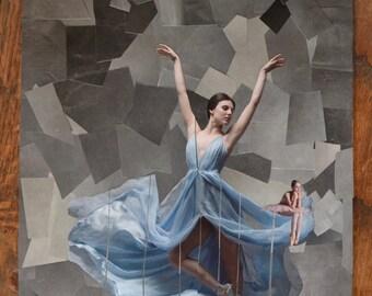 SALE Ballerina Collage Art