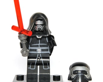 Kylo Ren Star Wars The Force Awakens Custom Minifigure Minifig Comics Compatible With Blocks Bricks Building Toys Christmas gift