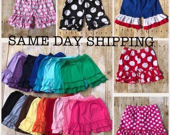 Girls ruffle shorts, Ruffle shorts, ruffle shorties, girls shorts, girls ruffle shorts