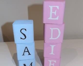 Baby Blocks, Wooden Blocks, Baby Room Decor, Nursery Decor, Baby Name Blocks, Baby Shower Gift, Children's Room, Personalised Blocks, Wood
