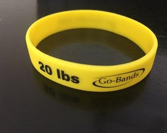 "Go Bands- motivational wrist bands ""20lbs"""
