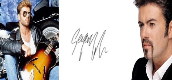 George Michael Autograph Mug