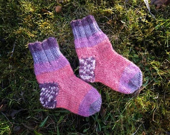 Kid wool socks