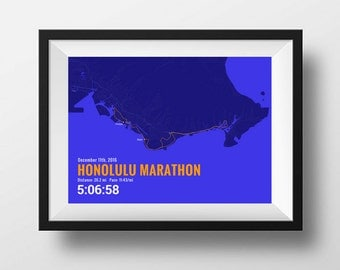 Personalized Marathon Map - using your actual GPS data!