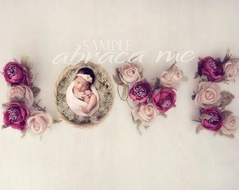 LOVE newborn digital background/ newborn digital backdrop/ instant download